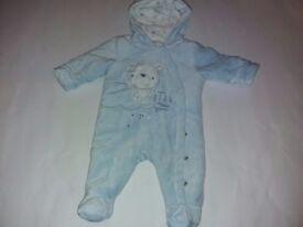 Baby boy warm all in one (0-3 months)