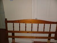"""Solid Pine Spindled Headboard for 4ft 6"""" Double Bed - perfect for refurbishment"""