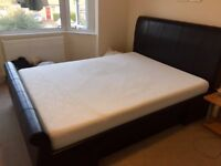 TEMPUR Original 22 Mattress - Firm (King size) + Full Leather black bed (King size)