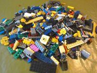 PILE OF BUILDING BRICKS/BLOCKS - NOT GENUINE LEGO!