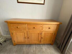 Mid Oak Style Sideboard