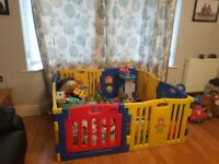 8 side MCC Playpen with mats less than a year old good condition
