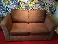 Brown bed settee 2 seater settee