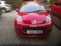 PEUGEOT 107 ALLURE 2012 62 PLATE SLIGHT DAMAGE, FREE TAX, 27000 MILES, NEW MOT