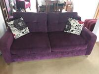 Two 3 seater sofas
