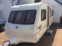 Bailey Pageant Bordeaux Caravan For Sale ( 4 berth ), 2004, VGC. Fixed rear bed. Porch Awning Inc.
