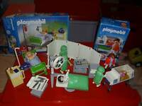 Playmobil operating theatre hospital bed and baby incubator