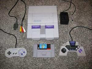 SUPER NINTENDO SYSTEM SNES + MARIO WORLD 100% TESTED AND WORKING!