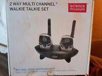Multi channel walkie talkie set