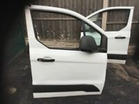 FORD TRANSIT CONNECT MK2 2013-2018 OSF DRIVER SIDE FRONT BARE DOOR SHELL WHITE
