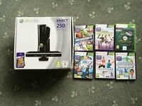 Xbox 360 250GB Special Edition with Kinect and 7 Games
