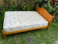 Double bed with mattress (delivery available)