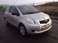 2007 toyota yaris 1.0 ,MOT -July 2017,full service history 8 stamps 2 owners fiesta jazz corsa