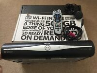 Sky+ HD box. Complete with remote, hdmi cable and power cable.