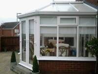 Conservatory and cane furniture
