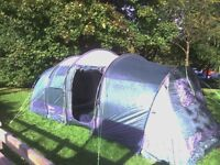 large family twin bed room 6 man tent. hi gear zenobia 6 .£290 when new, vgc