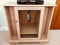 Attractive limed oak tv unit