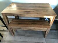 Next Bronx table and bench set