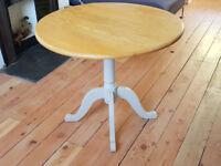 Oak Bistro Table with drop leaf sides
