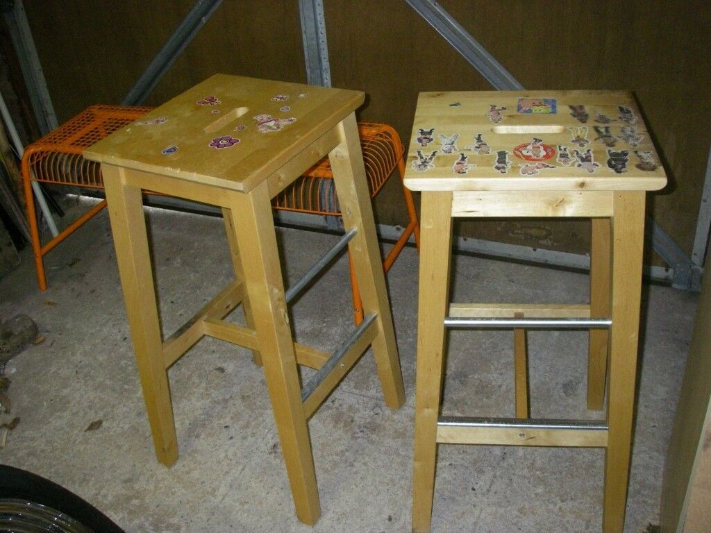reputable site d04e3 5d939 Ikea Wooden Kitchen Stools x 2 | in East Kilbride, Glasgow | Gumtree