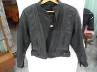 Ladies Leather Motorcycle Jacket - Size 12