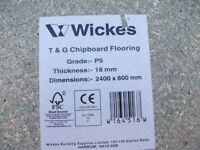 5 x Wickes P5 grade T&G chip-board flooring 2400 x 600 x 18MM (Wickes code 164516)