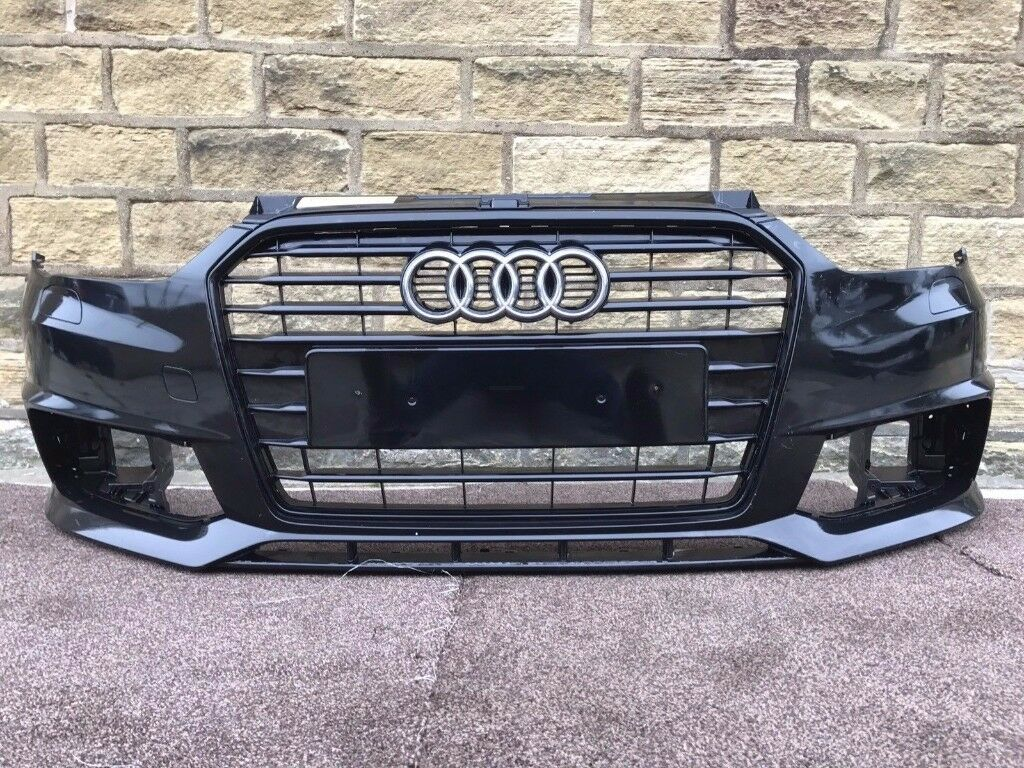 2016 AUDI A1 S LINE S1 FACELIFT - FRONT BUMPER in BLACK - In Good Condition