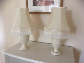 2 traditional bedside lamps