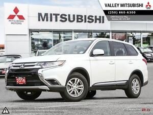 2016 Mitsubishi Outlander ES - AWD, Heated Seats, Bluetooth, TPM