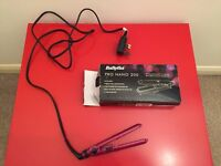 Purple BaByliss pro nano 200 Travel Straighteners