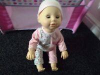 Great baby annabell bundle, includes learn to walk interactive doll