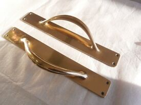 15 inch Old Solid Brass Door Handles