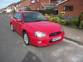 2005 SUBARU IMPREZA GL AWD AUTO RED 58000 MILES 12 MONTH M.O.T.