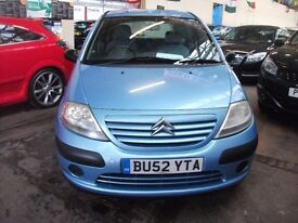 Citroen C3 1.4 i LX 5dr £999 NEW MOT, F/S/H, LOW INSURE TAX 2003 (52 reg), Hatchback