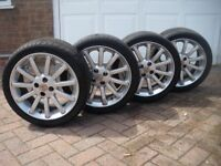 Set of MG TF 16 inch Alloys