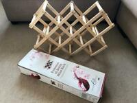 Brand new boxed Slone & Ebury Provence wooden wine rack beige