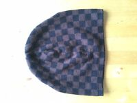 Fred Perry beanie checkered brown and black new, no tags