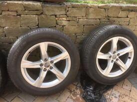 Genuine Audi Alloys with tyres