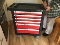 Kraft muller tool station with tools brand new on wheels