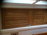 4 x panel Oak veneer solid internal door complete with ironmongery