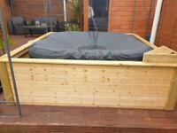 2m x 2m surround for lazy spa, CleverSpa, mspa