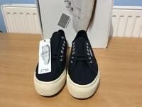 WOMENS SUPERGA 2750 NAVY BLUE UK SIZE 7