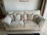 Three piece suite sofa