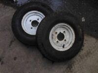 2x 8 inch trailer wheels