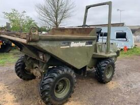 1997 benford 3 ton straight tip dumper. Ex army