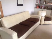 Vintage 1950s/1960s Danish Sofa Bed Matching Arm Chair Retro Eames Ercol