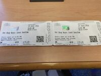 For Sale Pet Shop Boys Concert Tickets