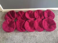 10 x pink beret hats French artist hen do
