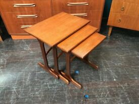 Teak Nest of Tables from 'Fresco' range by G-Plan. Retro Vintage Mid Century