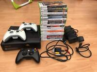 XBOX 360S (matt black) with games (reasonable offers considered)